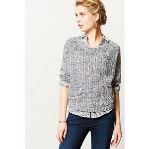 Anthropologie Marled Swing Cropped Sweater